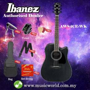 Ibanez artwood aw84ce-wk weathered black open pore