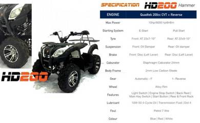 All Terrain Vehicle ATV Hammer HD 200