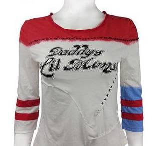 Harley quinn long sleeve shirt costume cosplay H02