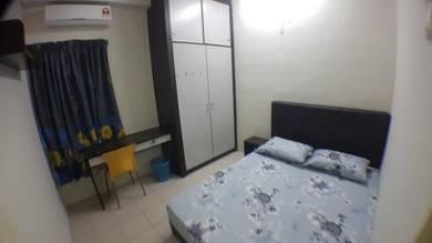 Bilik Casa Subang USJ1 Medium Master room depan BRT LRT free api air