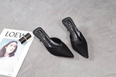 8055 Slip On Fancy Mid Heel Shoes
