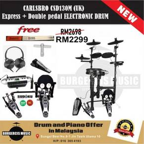 Carlsbro CSD130M Express Drum + Double Pedal