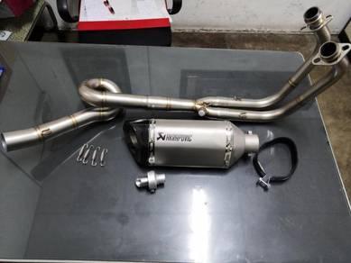 Kawasaki z400 ninja 400 exhaust full system