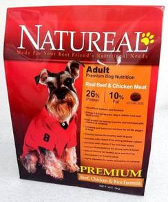 1kg Natureal Adult Premium Beef & Rice Dog Food