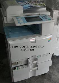 Photocopier machine color mpc4000 b/w