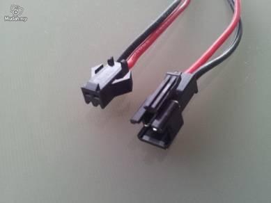 2 PIN connector Male/Female 12cm each.(1 pair)