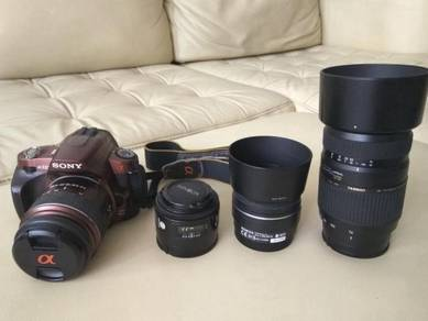 Sony A-mount 4 Lenses and a330 DSLR