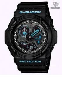 Watch - Casio G SHOCK GA300BA BLACK BLUE -ORIGINAL