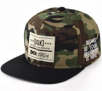 C038 Camouflage Flat-Brimmed Snapback Hip-Hop Cap
