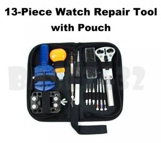 13 Pieces Watch Repair Tool Kit Band Open Back Cas