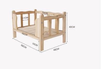 Wooden DIY Pet house Bed, Pets Cage Sangkar Kucing