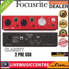 Focusrite Clarett 2Pre USB 10-in/4-out USB 2.0 Int