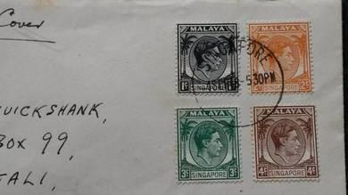 FDC Malaya Singapore RHODESIA 1948 No 2497