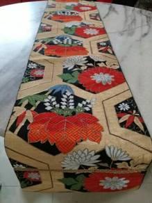 EEQ Antik alas meja table runner kimono jepun