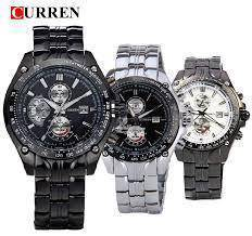 New CURREN Luxury Men's Business Stainless Steel