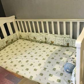 Baby Cot (up to 5yrs) & Latex Mattress