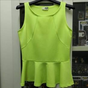 [BN] Peplum Green Blouse