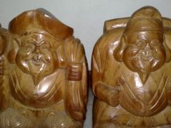 Wooden vintage laughing Buddha kayu