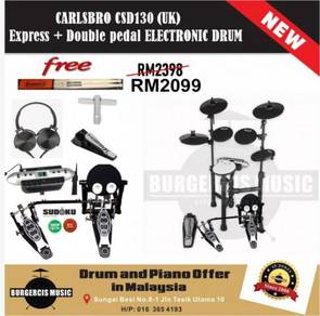 Carlsbro CSD130 (UK) Electronic Drum+Double Pedal