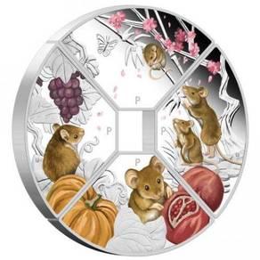 2020 Mouse Quadrant 1oz Silver Proof Four Coin Set