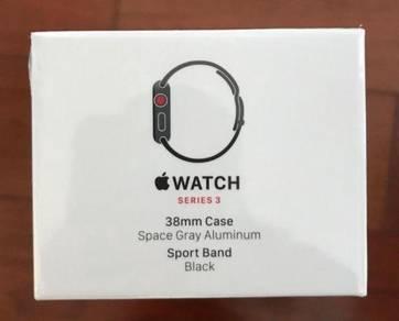 Apple Watch Series 3 38mm Space Gray Aluminium Cas