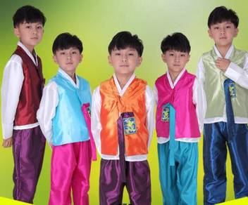 Korea Korean tradisional hanbok boy kids costume