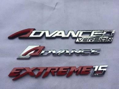 Perodua bezza advance emblem logo