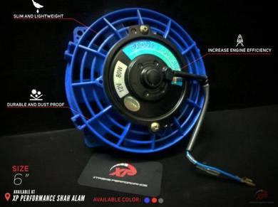 Kipas radiator aircond sard blue black red 6 inch
