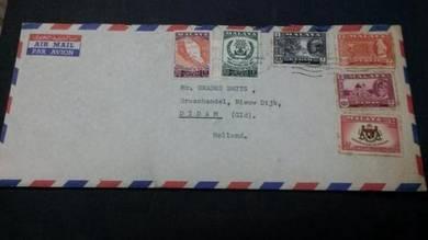 RARE Cover Malaya Singapore No 3521
