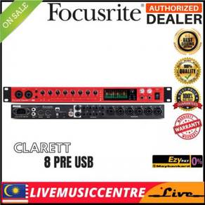 Focusrite Clarett 8Pre USB 18-in/20-out USB 2.0