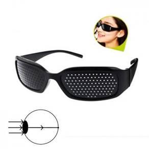 Black Vision Care Pin hole Eyeglasses