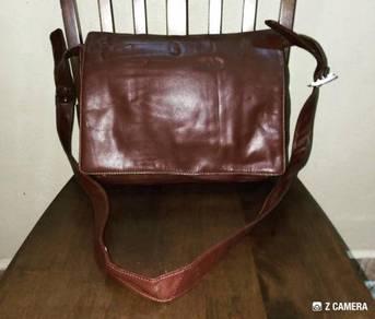 Messenger Bag Leather Unbrand