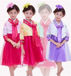 Korea tradisional wear hanbok girl kids costume