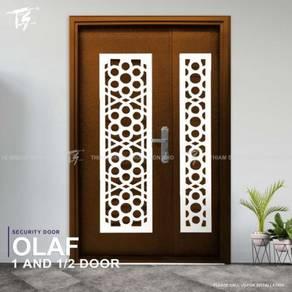Double 1& 1/2 Security Door Zone 3