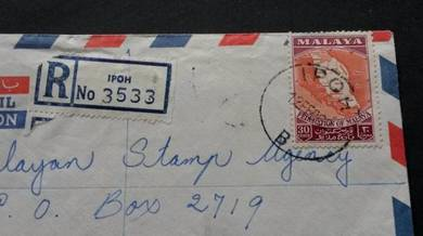 Cover MALAYA IPOH 1962 No 2502