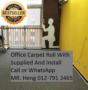 Classic Plain Design Carpet Roll with Install 8g98