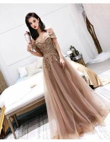 Nude wedding evening prom dress gown RBP0976
