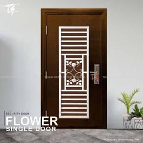 Flower Single Security Door Zone 3