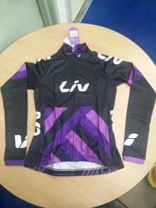 2017 LIV Raceday Black Purple Long Sleeves Jersey