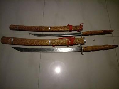 Pedang krabi 1 bilah.