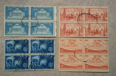 USA 1930 stamps in block 4 used BL489