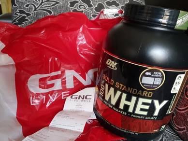 GNC protein whey 100 gild standard