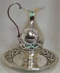 Silver Plated Jug & Plate