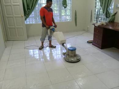 Marble floor cleaning polish