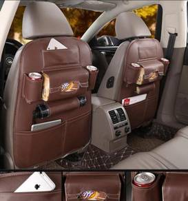 Leather Backseat organizer -Mocha Brown