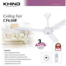 Khind Remote control Ceiling Fan CF630R-New