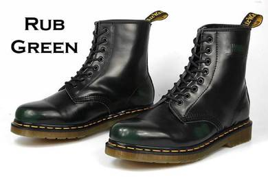 Dr Martens 1460 8 Eye Original Rub Green