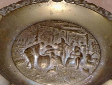 Brass hunting season ashtray tembaga
