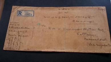 Cover Kuala Lumpur India 1935 No 3524