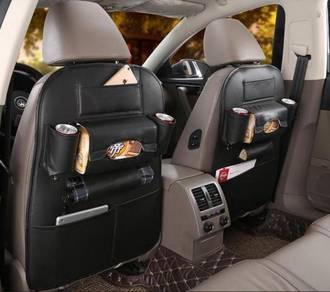 Leather Backseat organizer -BLACK
